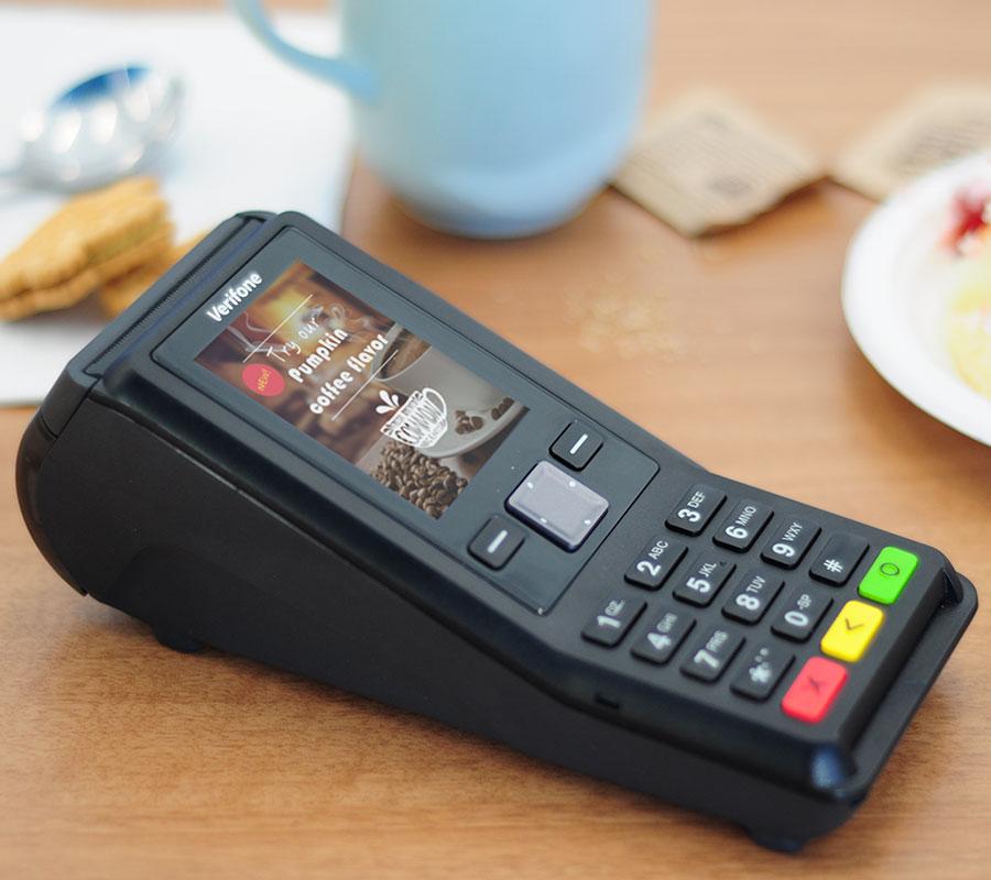 terminal carte bancaire v200c verifone sans contact tpe