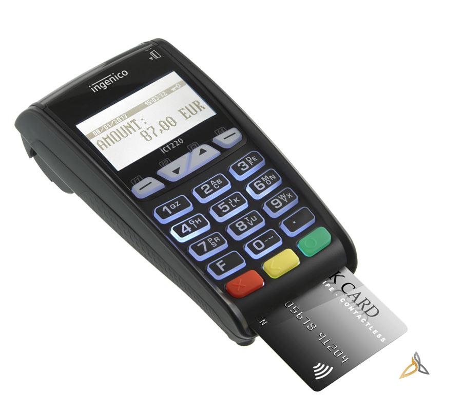 lecteur cb ict 220 ingenico terminal de paiement fixe