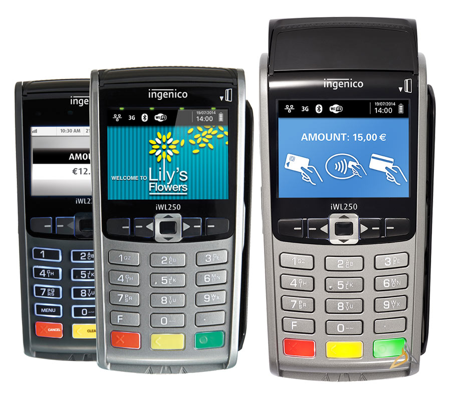 terminal de paiement mobile ingenico iwl 250 3g bluetooth wifi sans contact base internet ip rtc